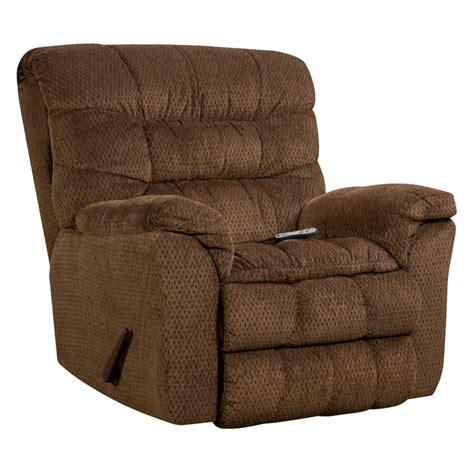Aegean Brown Heat Massage Rocker Recliner Wg R Furniture