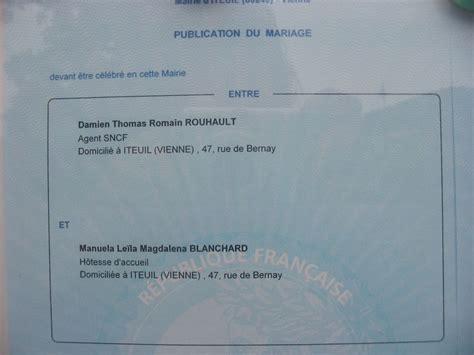 Publication Des Bancs by Publication Des Bancs Manuela Et Damien Mariage Le 29