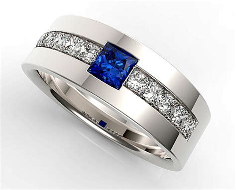 mens sapphire ring vidar jewelry unique custom