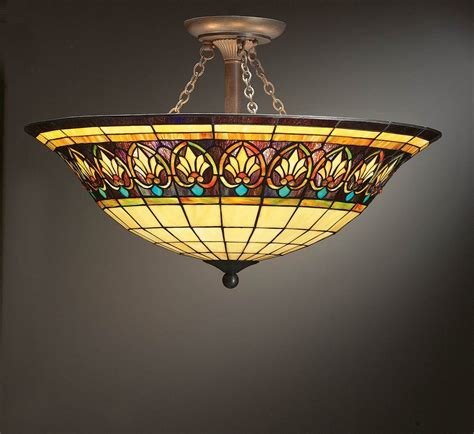Stained Glass Ceiling Light Fixtures Stained Glass Ls Lighting Ceiling Fans On Winlights Deluxe Interior Lighting Design