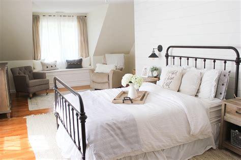 home farmhouse master bedroom mcbride - Farmhouse Bedroom