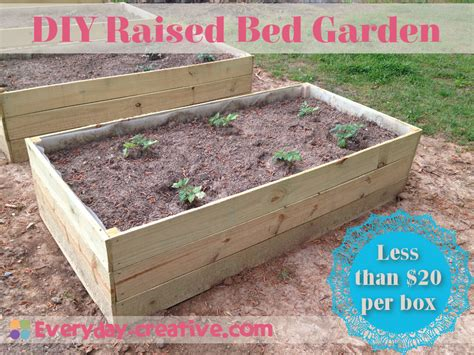 diy raised garden beds cheap raised bed garden quick and cheap 187 everyday creative