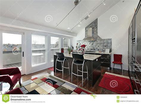 kitchen door balcony stock photo image