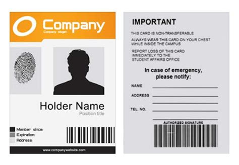company badge template company id template psd 171 xonekdesign