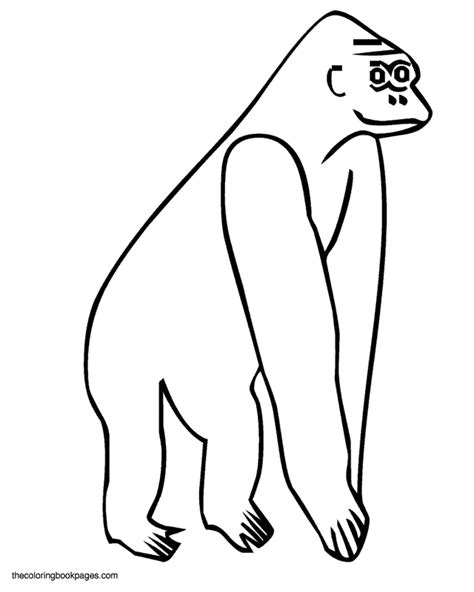easy monkey coloring page simple coloring book pages coloring home