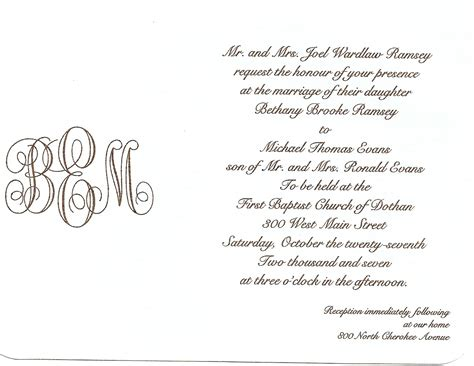 Wedding Invitations Writing by Simply Southern Wedding