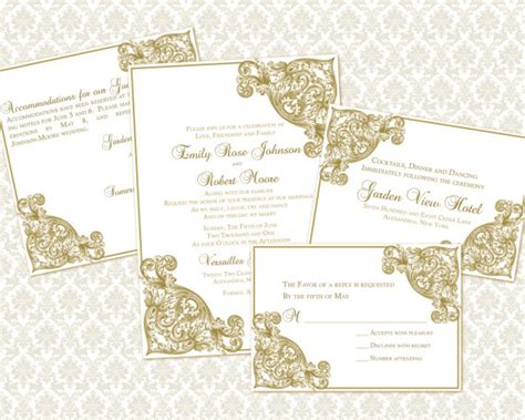 what is enclosed in a wedding invitation diy wedding invitation template set 5x7 invitation