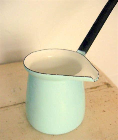 rugnur cucina i love my kitchen and utensils cream red retro enamel ware aqua blue dipper ladle gravy kitchen