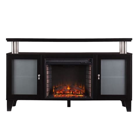Fireplace Tv Stand Black by Southern Enterprises Cabrini Fireplace Tv Stand In Black