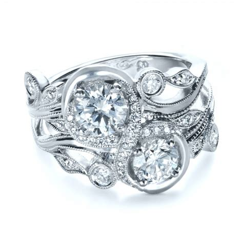Unique Handmade Engagement Rings - custom organic infinity engagement ring 1383