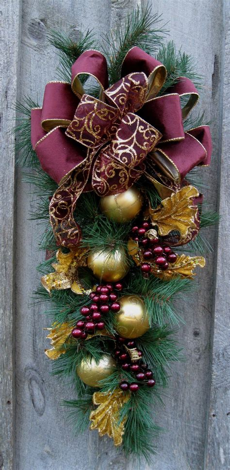 christmas swag holiday wreath elegant by newenglandwreath