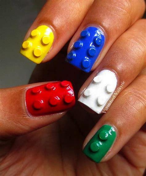 lego nails tutorial 35 cool 3d nail art hative