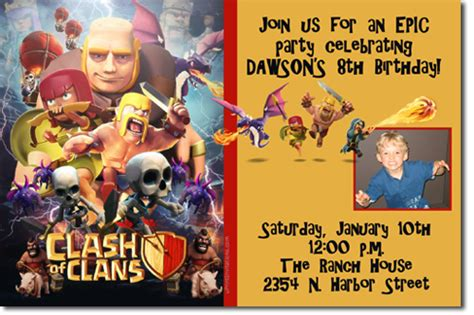 clash of clans printable birthday banner clash of clans birthday invitations design online download