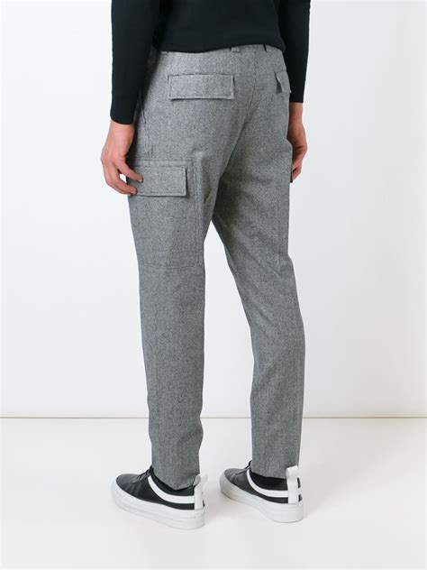 pattern tapered trousers brunello cucinelli houndstooth trousers in gray for men