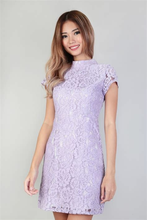 Naira Dress S naira lace dress in lavender mgp