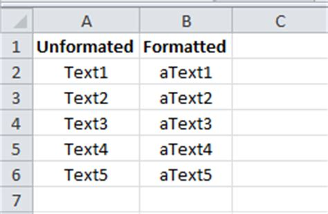 excel custom formatting adding characters and text vba