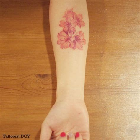 red ink tattoo ink flower www pixshark images