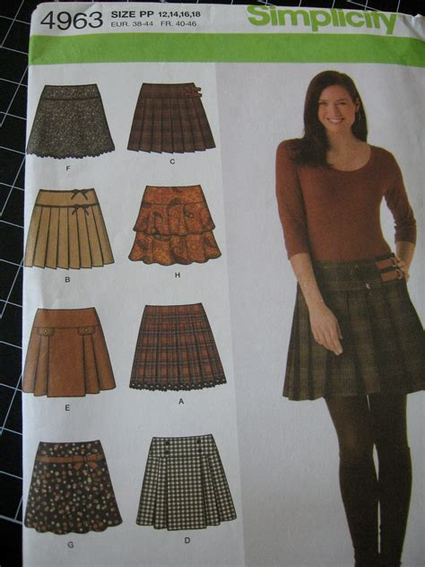 s pleated skirt pattern simplicity 4963