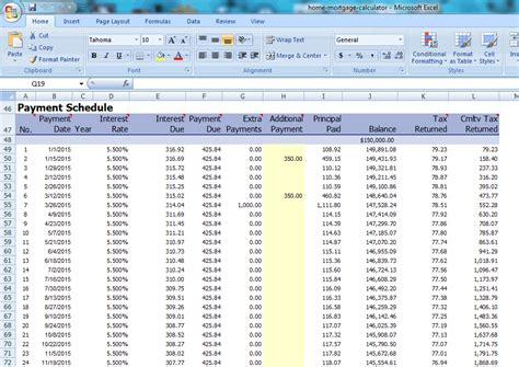Best Free Amortization Shedule Maker Software Microsoft Excel Amortization Schedule Template