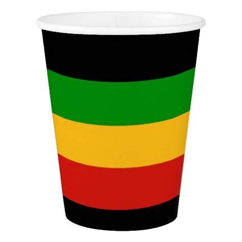 rasta flag colors rastafari flag colors your ideas paper cup zazzle