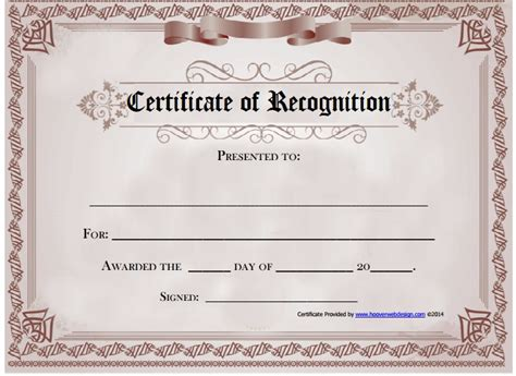 free template for certificate of recognition certificate of recognition template beepmunk