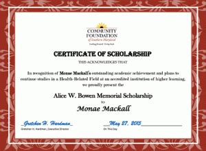 Memorial Scholarship Certificate 32477 Linepc Memorial Scholarship Application Template
