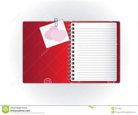 notebook and sweet card stock photography image