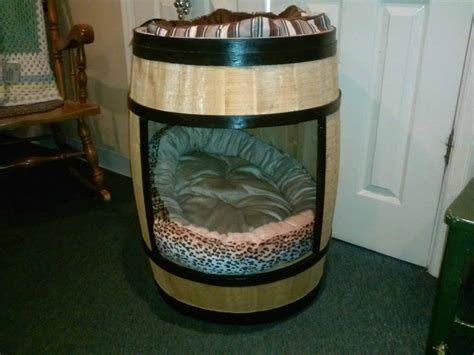 wine barrel dog house recyclart