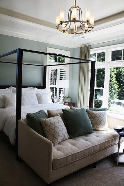 sofa at the foot of the bed sofa at foot of canopy bed spaces and places pinterest