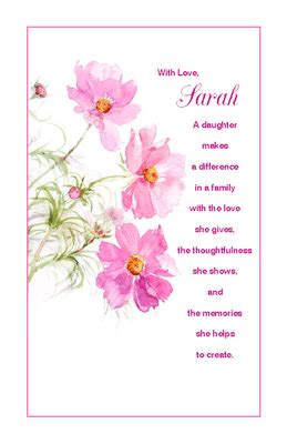 free printable christmas cards daughter a daughter makes a difference greeting card valentine s