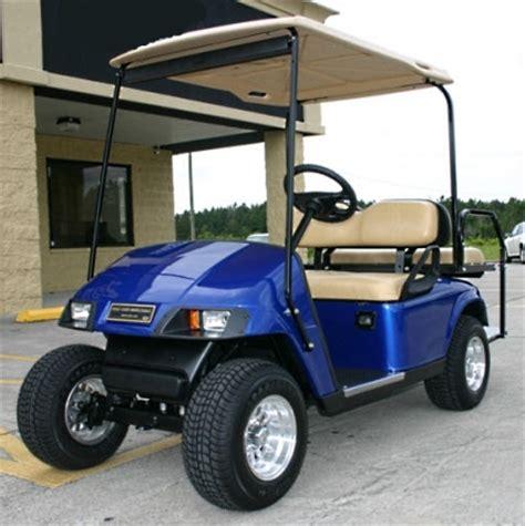 Ezgo Pds 36v Blue Electric Golf Cart W Speed Chip
