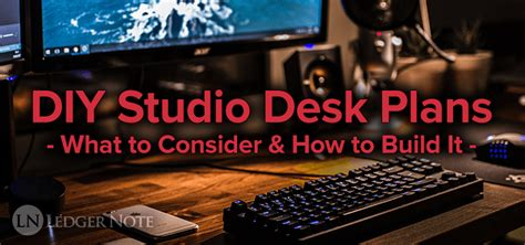 diy studio desk plans diy studio desk plans custom fit for your needs ledger
