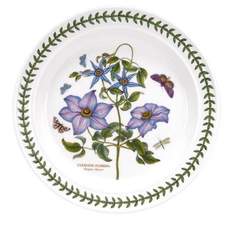 Portmeirion Botanic Garden 10 Inch Dinner Plate Clematis Portmeirion The Botanic Garden