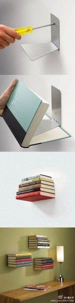 Penyangga Rak Dinding rak buku melayang safana furniture