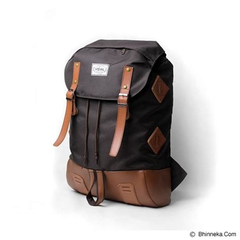 Tas Backpack Visval Raga Brown jual visval bara brown murah bhinneka