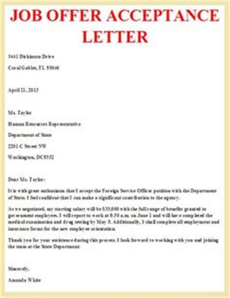 Acceptance Letter New Sle Professional Letter Formats Offer And Letter Exle