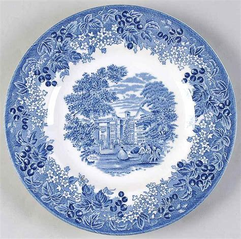blue pattern pottery wedgwood romantic england blue transferware bread plate ebay