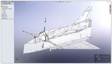 solidworks tutorial aircraft mirage 2000 modeling process selcuk ozmumcu solidworks