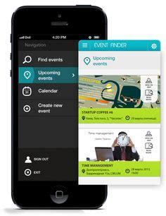 design event app iphone app design inspiration on pinterest iphone app