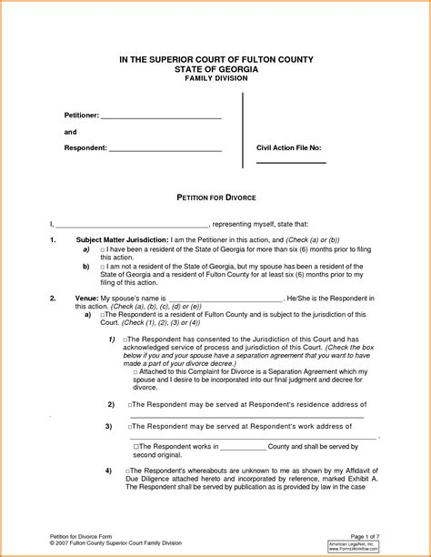 Divorce Opinion Letter Ontario Separation Agreement Form 10 Separation Agreement