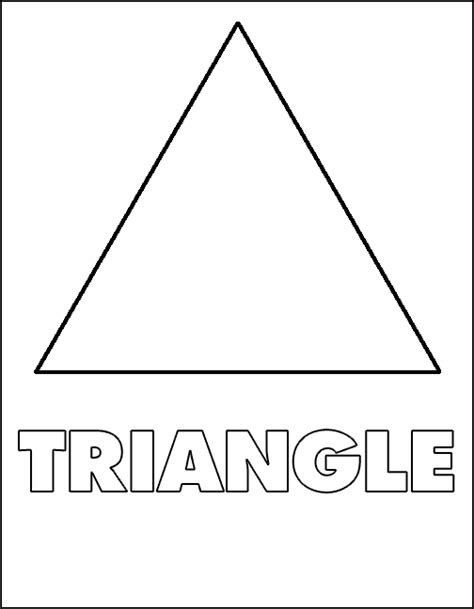 Free Coloring Pages Of Shape Triangle Triangle Coloring Pages