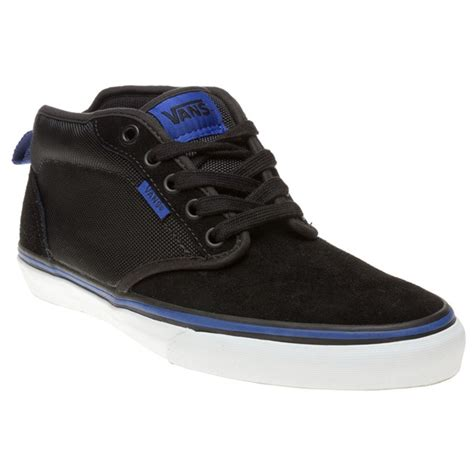 new mens vans black atwood suede trainers chukka boots lace up