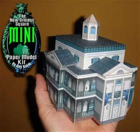 Haunted Mansion Papercraft - mini new orleans square haunted mansion papercraft