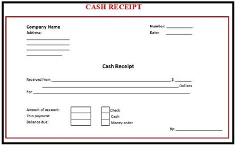 free printable money receipt cash payment receipt template sles vlashed