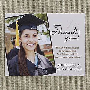 high school graduation thank you card templates refined graduate custom thank you cards graduation