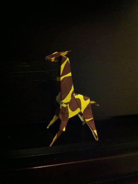 Origami For The Connoisseur - origami giraffe designed by engel folded by ty 2014