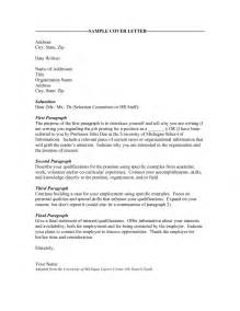 Cover Letter Salutation by Salutation Cover Letter