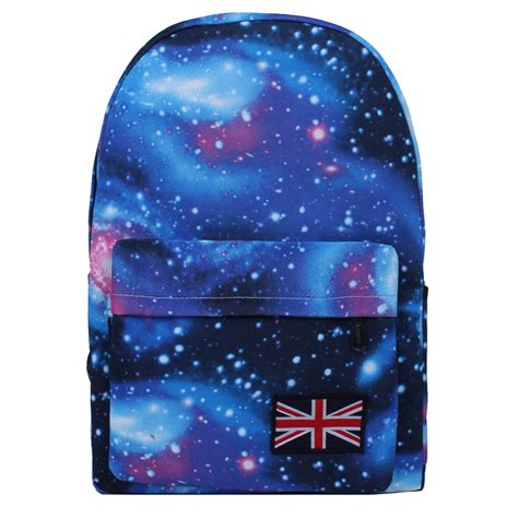 pattern fabric backpack galaxy pattern unisex travel backpack oxford fabric