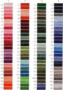 thread colors madeira thread color chart needle logo embroidery thread