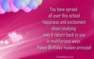 birthday wishes for principal ma am cards wishes